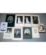 Butters Family (10) Antique Photos - Somerville & Boston, MA - $174.75