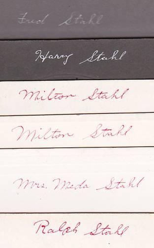 Stahl Family (13) Antique Cabinet Photos - Maine & Massachusetts