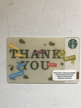 Starbucks Gift Card - NEW - THANK YOU IN DIFFERENT LANGUAGES 2012 - $1.19