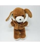 "12"" VINTAGE 1982 AVON BROWN PUPPY DOG W/ JACKET STUFFED ANIMAL PLUSH TOY... - $45.82"