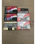 5 NIB Blank Audio Tape Cassettes Fuji & Maxwell Normal Bias High Bias Ma... - $15.00