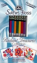DMC Satin Floss Collection Radiant Treasures 8 skeins 100% rayon DMC - $9.90