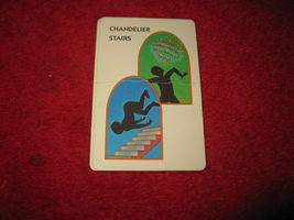 1993 - 13 Dead End Drive Board Game Piece: Chandelier / Stairs Trap Card - $1.00