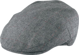 Henschel Wool Blend Ivy League Cap Herringbone Satin Lining Brown Gray B... - $48.00