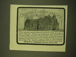 1918 Oberlin Conservatory of Music Ad - Rice Hall  Warner Hall - $14.99