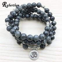 Ruberthen 2018 Top Design Labradorite Wrap Bracelet Trendy Handmade Men`s 108 Ma - $20.57