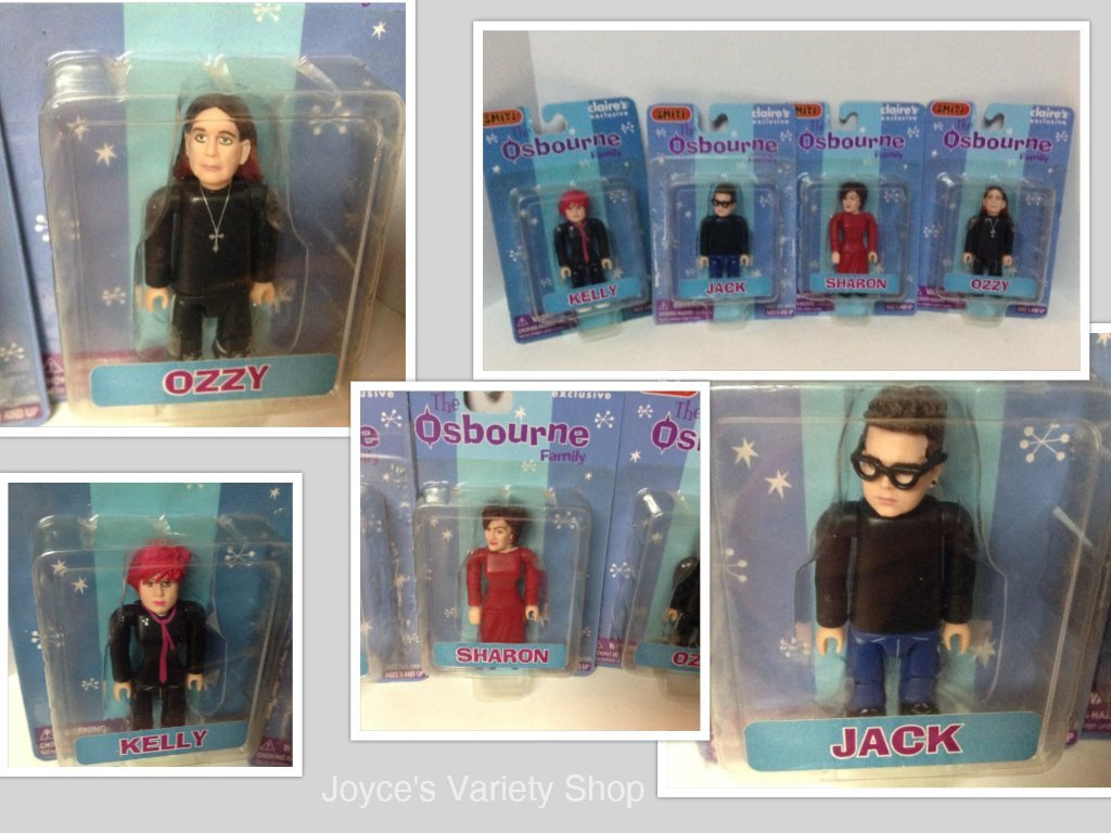 Osbourne Family Licensed Collectibles MIMB Ozzy Sharon Jack Kelly