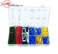 Swordfish 70280-338pc Electrical Connector Assortment with Wire Zip Ties