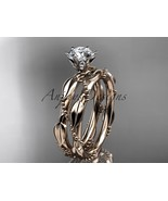 14k rose gold diamond  engagement set with a Moissanite center stone ADL... - $1,275.00