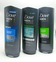 3 x DOVE MEN + CARE Body & Face Wash Extra Fresh Power+Renew Eucalyp 18oz/532ml  - $19.75