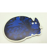 B.Kliban Blue Cat Die Cut Ornament Yellow Backing - $7.43