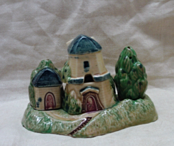 Vintage Four Piece Windmill With Trees Salt & Pepper Shaker Set - $15.00