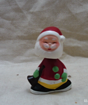 Vintage Metal Santa Claus Bobble Head //Miniature Christmas Santa Bobble... - $20.00