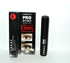 Lorac Pro Plus Fiber Mascara Black Mini .22oz New In Box - $7.99