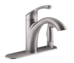 KOHLER Mistos Single-Hndl Side Sprayer Kitchen Faucet Stainless Steel R72509-VS - $94.00