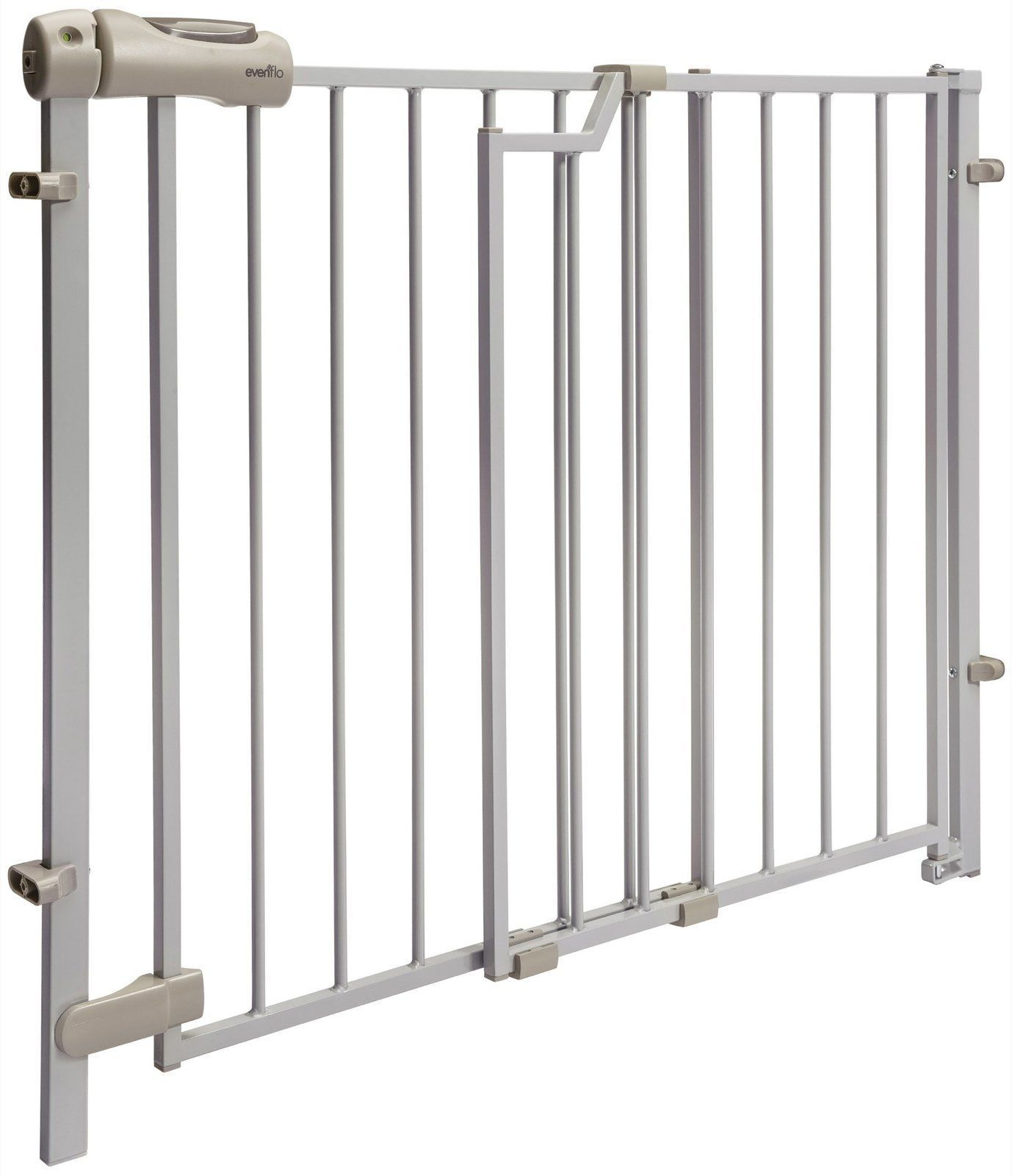 Evenflo Secure Step Top of Stairs Gate, Taupe - 4233052