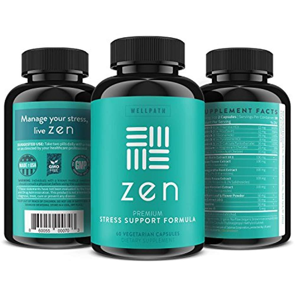 ZEN Premium Anxiety And Stress Relief Supplement - Natural Herbal Formula To & image 8