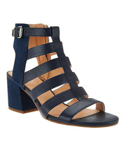 Franco Sarto Leather Multistrap Open Toe Sandals in Mesa, Blue, size 8 M - $39.59