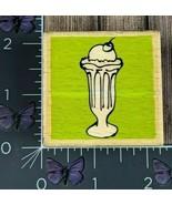Vap! Scrap Ice Cream Sundae Rubber Stamp Wood #Z85 - $2.48