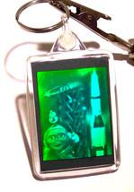 real 3d photo holograph hologram keyring laser holographic image alien and rocke