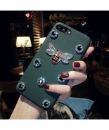 Bee iPhone 6s Case Leather Shell iPhone 7 Case Green Sparkly Rhinestone ... - $20.00
