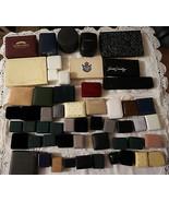 51 Vintage Velvet Leather Jewelry Box Lot Coro Vendome Krementz Tag Heue... - $175.00