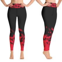 Red on Black Leggings for Women Butt Lift Yoga Pants for Women Tummy Con... - $39.99+
