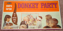 DONKEY PARTY EXTRA LARGE & 25 OTHER PARTY GAMES 1966 WHITMAN WESTERN EXC... - $15.00