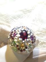 Nemesis Vintage Size 5 Handmade Sterling Silver Gemstone Ring - $135.58