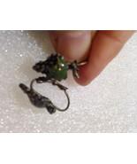 Nemesis Vintage Opal Glass Lever Back Earrings - $23.38