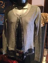 Simply By Vera Wang Vintage Style Grey Jacket Cardigan - $37.40