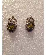 Vintage  Marcasite 92.5% Sterling Silver Earrings - $42.08