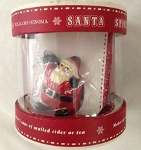 "Red Santa Holding 2""  Round Wire Mesh Tea Bag S... - $7.34"