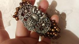 Vintage Brown Pearl  Bracelet Handmade 92.5% Sterling Silver Clasp - $154.28