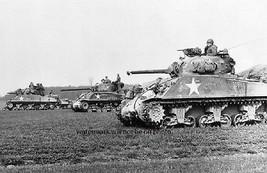 "U.S. in Action M4 Sherman Tanks in the ETO 11""x17"" World War II Photo Po... - $14.80"
