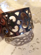 Vintage Cuff Bracelet Low Content Silver, Nickle Silver - $42.08