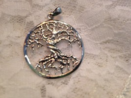 Delecate Vintage Filigree Tree Of Life 92.5% Sterling Silver Pendant - $23.38