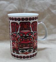 Vintage  Oscardo Inc. Red & Black Tiki Coffee Mug // Porcelain Coffee Cup - $6.00