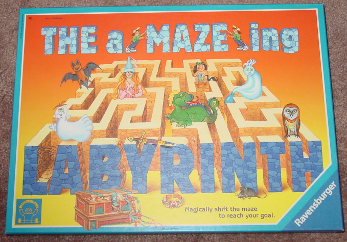 Primary image for AMAZEING LABYRINTH GAME 2002 TILE MAZE UNUSED RAVENSBURGER DISCOVERY TOYS COMPL