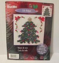 Plaid Bucilla Stamped Silk Ribbon Kit Christmas Tree #84468 New - $12.01