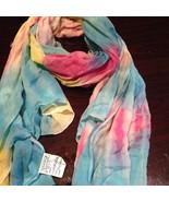 Multi Colored Cotton Tie Dye Shawl Wrap Scarf - $26.18