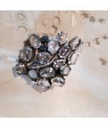 Nemesis Delecate Rainbow Labradorite Ruby 925 Sterling Silver Vintage Broach Pin - $88.83