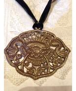Brass Antique Repose Dragon Necklace. - $32.73