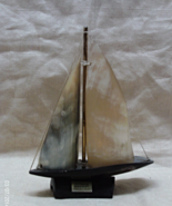 Vintage Dykehead Horncraft Hand Carved Horn Sailboat // Made in Scotland - $14.00
