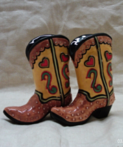 Cowboy Boots Novelty Salt & Pepper Shakers // Western Style S&P Shaker Set - $12.00