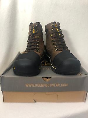 KEEN Men's Milwaukee WP Shoe (Steel Toe), Dark Earth, 9