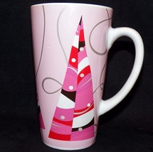 2004 Starbucks Tall Pink Silver Holiday Grande 16oz Christmas Tree Latte Mug - $29.99