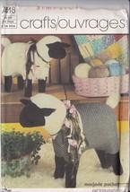 SIMPLICITY CRAFTS PATTERN 7418 STUFFED SHEEP - UNCUT - FACTORY FOLDED - $8.75