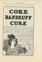 1900 Coke Dandruff Cure Ad Paris Awards A. R. Bremer Hair Care Beauty - $10.00