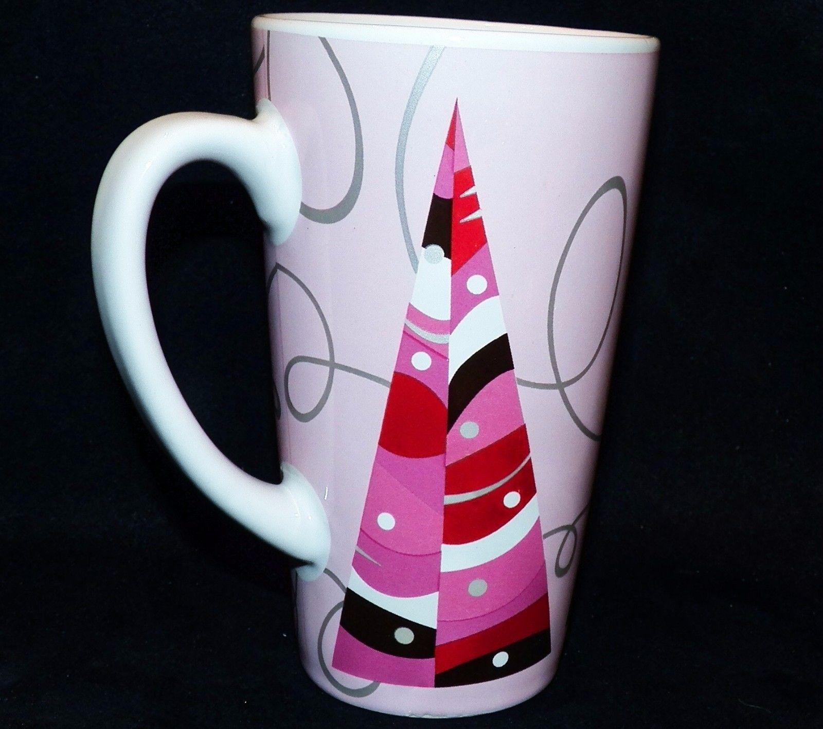 2004 Starbucks Tall Pink Silver Holiday Grande 16oz